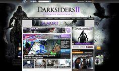 Habillages sur les sites gameblog.fr, jeuxvideo.fr, jeuxactu.com et jeuxvideomagazine.com à l'occasion de la sortie de Darksiders II pour THQ.