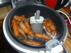Tefal Actifry Doesn't Just Do Chips : Sausages ! Tefal Actifry, Actifry Recipes, Pork Recipes, Easy Recipes, Healthy Fries, Air Fryer Oven Recipes, Air Fried Food, How To Cook Sausage, Diet