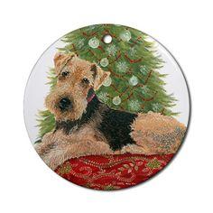 Welsh Terrier Christmas Ornament Round Round Ornament CafePress http://www.amazon.com/dp/B009Z49NKU/ref=cm_sw_r_pi_dp_zhZbub0NZCSV1