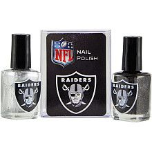 Oakland Raiders Team Colors Nail Polish