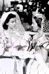 Scarlett O'Hara Hamilton and her new sister-in-law, Melanie Hamilton Wilkes from Gone With The Wind