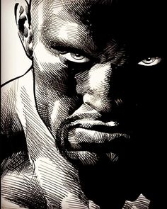 Cage by Mike Deodato Jr - Top 99 Pencil Drawings Comic Book Characters, Marvel Characters, Comic Books Art, Book Art, Superhero Duos, Iron Fist Comic, Luke Cage Iron Fist, Mike Deodato Jr, Defenders Marvel