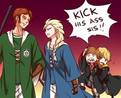 *bickering* Hans vs Elsa  Slytherin vs Ravenclaw