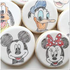 Close-up of Disney Cookies