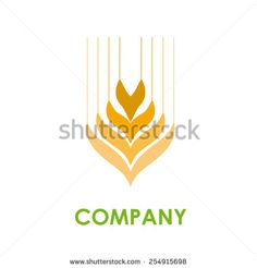 Vector sign wheat