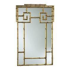 Cyan Design Bamboo Mirror in Gold