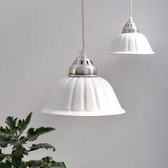Grooved Ceramic Pendant Lamp