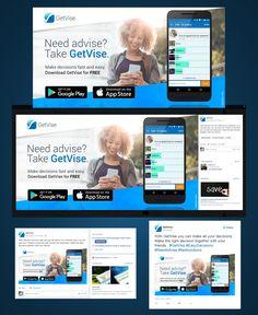 Banner ad design for GetVise | 99designs
