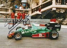 Eddie Cheever. Autographed Photo.  Is an American former racing driver who raced for almost 30 years in Formula One, sports cars, CART, and the Indy Racing League.  Rrice $15