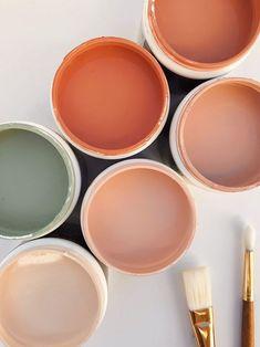 interior colour palette peach and green Colour Pallete, Colour Schemes, Color Combos, Colour Trends, Beach Color Palettes, Pantone Colour Palettes, Orange Color Palettes, Pantone Color, Colour Board