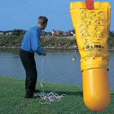 B-Line™ Throwing / Rescue Buoy can be thrown much further and more accurately than a standard lifebuoy, increasing the chances of a successful rescue. Water Rescue, B Line, Lifebuoy, Water Safety, Vertical Or Horizontal, Products, Life Preserver, Gadget