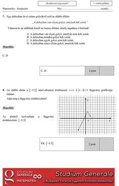 Megvannak a matekérettségi megoldásai! Itt találjátok a rövid feladatokat - eduline.hu