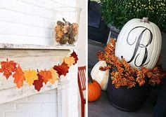 Monogrammed pumpkin