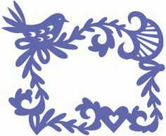 Silhouette Design Store - View Design #76531: ornate bird and flowers frame