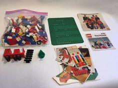 Vintage 1973 Lego Fire House Station (570) Piece Lot 2LBS Wheels Books Plate #LEGO