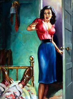 'Married to murder' - pulp fiction cover art, 1951