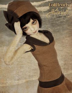 """New Haute Doll exclusive SD-sized BJD outfit by Val Zeitler and DollHeart--""""Boardwalk Baby."""" Visit http://shop.dollsmagazine.com/boardwalk-baby-sd-sized-doll-outfit.html for details!"""