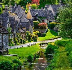 Bibury - old village in England