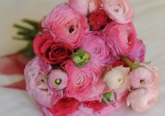 Wedding Bouquets, Wedding Cakes, Wedding Flowers, Wedding Day, Green Pictures, Hot Pink Roses, Flower Company, Pink Bouquet, Ranunculus