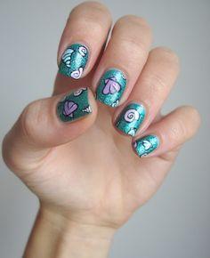 Coco's nails: Nailstorming - L'eau et ses coquillages (les 4 éléments)