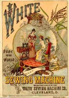 A collection of sewing machine trade cardsfrom the 19th century.