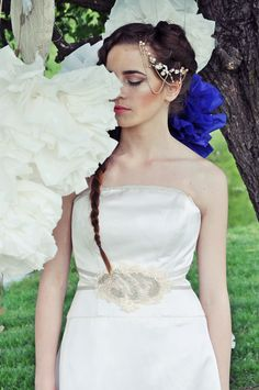 Bohemian Bride, One Shoulder Wedding Dress, Brides, Wedding Dresses, Blog, Fashion, Bride Dresses, Moda, Bridal Gowns