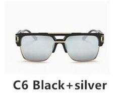 c68ff4c9c607 Luxury Square Sunglass Transparent Brand Designer Oversized Men Sunglass  Women Flat Top Sun Glasses Square Male Large Mirror