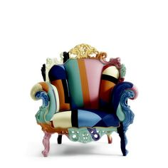 Color-Blocked Louis Philippe chair