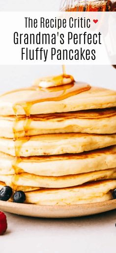 Fluffy pancakes make waking up in the morning even better. Drizzle warm syrup over top thick, fluffy pancakes that will melt in your mouth with every bite! Breakfast Items, Breakfast Dishes, Best Breakfast, Breakfast Recipes, Mexican Breakfast, Pancake Recipes, Waffle Recipes, Breakfast Nook, Tasty Pancakes