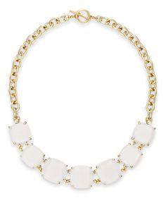 Lauren Ralph Lauren Gold-Tone Stone Frontal Toggle Necklace