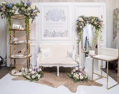 We just want to pick up and move into Fancy Face's dreamy booth from the #WedLuxeShow last week! Wasn't this space divine?   Photography By: L'Atelier Lumière   WedLuxe Magazine   #wedding #luxury #weddinginspiration #luxurywedding #decor #floral #interiordecor
