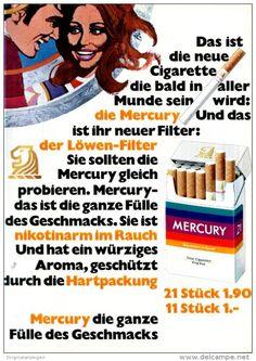 Original-Werbung/ Anzeige 1969 - MERCURY CIGARETTEN - ca. 180 x 240 mm