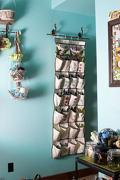 Shoe storage for craft storage