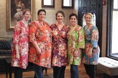 Real life Sample 9 - Bridesmaids Robes Made From A3 Fabric Pattern