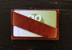 Men's Slim Minimal Leather Wallet / Handcrafted / by GuardedGoods