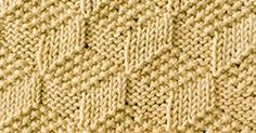 Tumbling Moss Blocks is a reversible stitch. Beautiful square and both sides look exactly the same. Just KNIT & PURL.