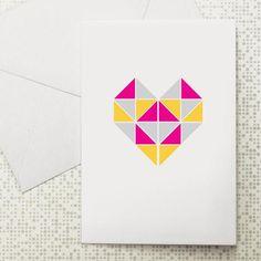 Geo heart card