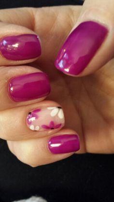 Spring gel nails.