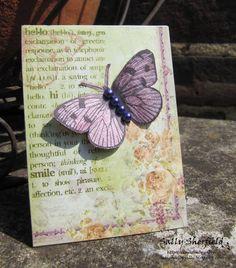 Cinnamon Sally Designs: An ATC and a card.