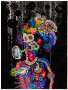 BRUCE RILEY RESIN ART Bohme   mixed media on panel 2014