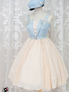 Lolita fashion - Accordion Cowboy Style JSK by Fantastic Wind,homecoming – Lolita fashion Pretty Outfits, Pretty Dresses, Beautiful Dresses, Cute Outfits, Elegant Dresses, Sexy Dresses, Casual Dresses, Summer Dresses, Mini Dresses