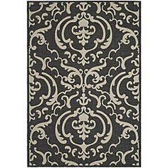 @Overstock http://www.overstock.com/Home-Garden/Indoor-Outdoor-Bimini-Black-Sand-Rug-710-x-11/3898874/product.html?CID=214117 $194.99