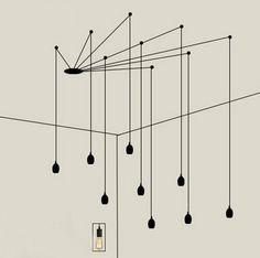 Creative character lines droplight Nordic modern fashion clothing store cafe restaurant LED energy saving wall chandelier-in Pendant Lights from Lights & Lighting on Aliexpress.com | Alibaba Group