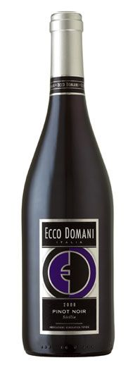 and, a glass of Ecco Domani pinot noir...