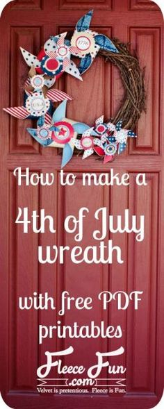 how to make fourth of july burlap wreath