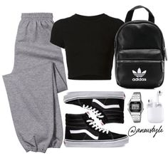 Cute Lazy Outfits, Teenage Girl Outfits, Cute Outfits For School, Teen Fashion Outfits, Cute Casual Outfits, Sporty Outfits, Retro Outfits, Outfits For Teens, Stylish Outfits