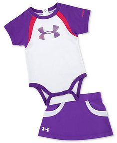 Under Armour Baby Set, Baby Girls Two-Piece Color-Blocked Bodysuit and Scooter Skirt - Kids Baby Girl (0-24 months) - Macys