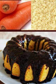 Bolo de cenoura feito com farinha de amendoas - lowcarb..