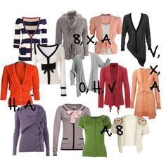 Choosing a cardigan  to best flatter your body shape...