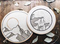 """451 Me gusta, 4 comentarios - Cosío, Bordao, Tejío ® (@cosiobordaotejio) en Instagram: """"Muy bellas las montañas bordadas de @escapethreads """""""